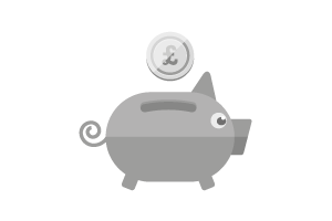 A piggy bank icon.